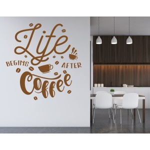 Citat life begins after coffee