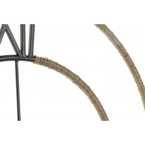 Metalna stenska ura z vrvjo 60 cm x 60 cm